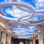 logo sky ceiling lights panel india tile tiles design designer window roof architecture interior